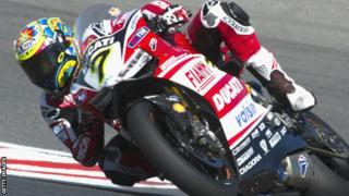 Chaz Davies during qualifying at Portimao Circuit, Portugal