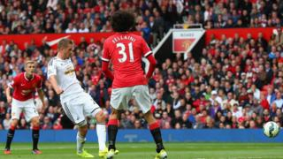 But Gylfi Sigurdsson's second half goal secured Swansea City's first ever league win over Manchester United at Old Trafford.