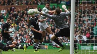 Celtic score against Dundee United