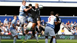 Wales defender James Chester heads home to give Hull City the lead against newly promoted Queens Park Rangers in the Premier League at Loftus Road.