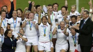 England celebrate World Cup win
