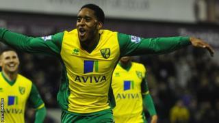 Leroy Fer celebrates scoring for Norwich City
