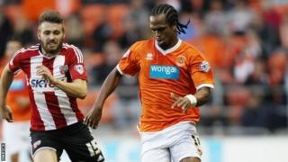Brentford's match-winner Stuart Dallas and Blackpool goalscorer Nathan Delfouneso