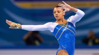 Ellie Downie in action at the European junior event earlier this year