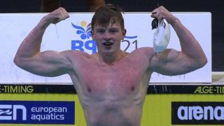 European Championships: Adam Peaty breaks 50m breaststroke record
