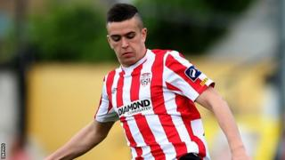 Michael Duffy was on target for Derry at the Brandywell
