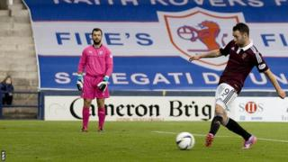 James Keatings scores for Hearts against Raith Rovers