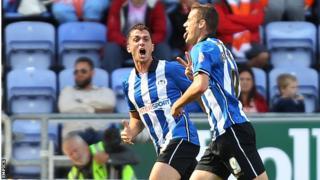Wigan striker Oriol Riera