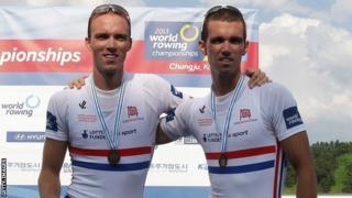 Peter and Richard Chambers won bronze at last year's world championships