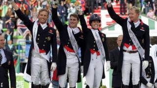 GB claim team silver in the World dressage in Caen