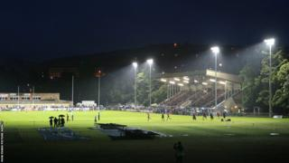 Newport Gwent Dragons hosted English Premiership champions Northampton Saints at Ebbw Vale, the first time the Welsh region had staged a game at Eugene Cross Park.
