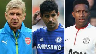 Arsene Wenger, Diego Costa, Danny Welbeck