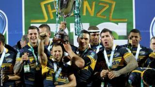 Leeds Rhinos celebrate their 2012 World Club Challenge victory