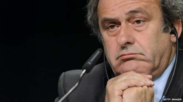Close up of Uefa president Michel Platini