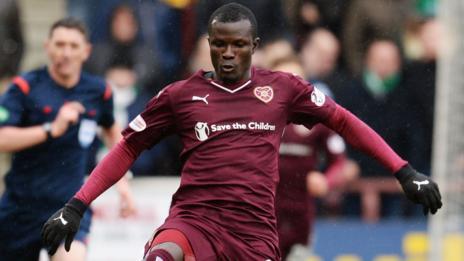Hearts striker Abiola Dauda