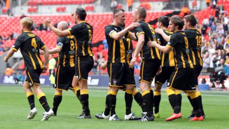 Chris Swailes' equaliser for Morpeth Town just before half-time was the turning point of the 2016 FA Vase final against Hereford FC at Wembley