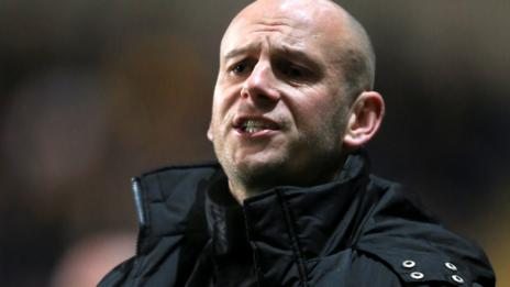 Mansfield Town manager Adam Murray