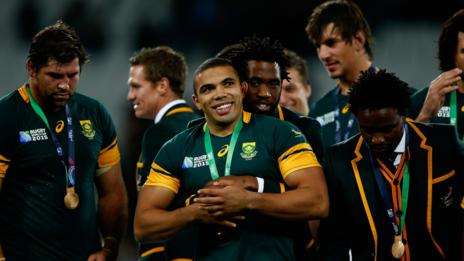 South Africa's Rugby World Cup squad