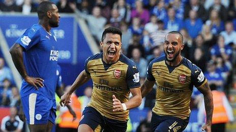 Alexis Sanchez scored a hat-trick the last time the two sides met