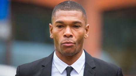 Marcus Bent arriving at court