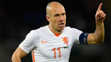 Arjen Robben second goal was his 30th of his international career
