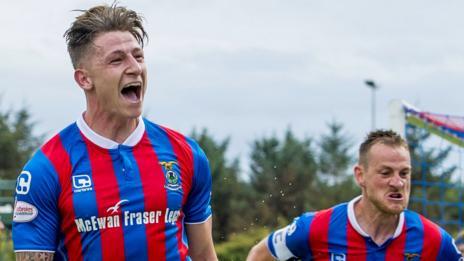 Inverness Caledonian Thistle's Josh Meekings celebrates