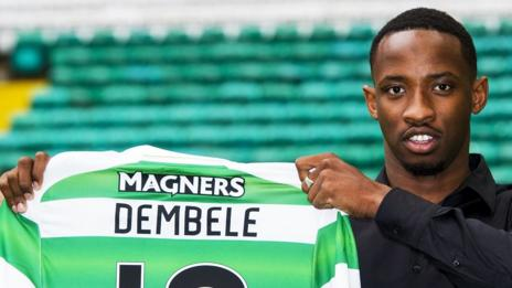 Moussa Dembele with his Celtic top