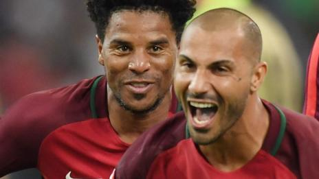 Ricardo Quaresma celebrates scoring Portugal's winning penalty