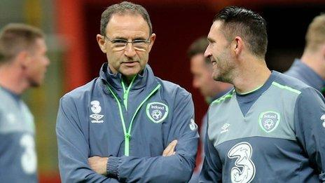 Republic boss Martin O'Neill and captain Robbie Keane