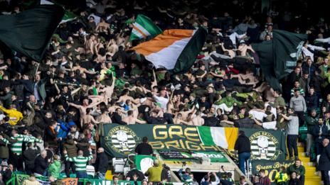 Supporters at Celtic Park