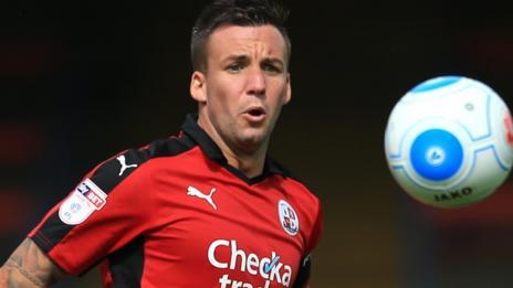 Crawley Town captain Jimmy Smith