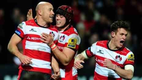 Willi Heinz's try was Gloucester's second in 15 minutes after the break against Bristol