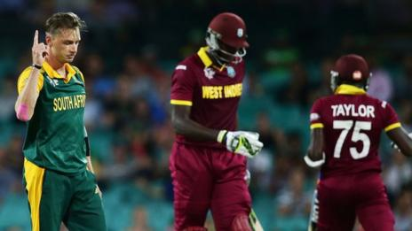 South Africa's Dale Steyn and West Indies' Jason Holder