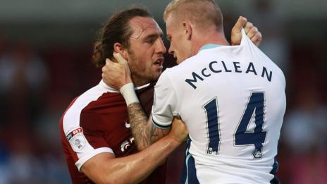 John-Joe O'Toole of Northampton and West Brom's James McClean