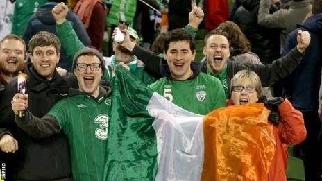 A total of 275,000 applications were received from Ireland supporters for the three group games in France