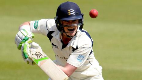 Middlesex opener Nick Gubbins was unbeaten at the close on 71 against Lancashire at Lord's