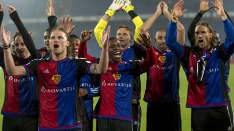 Basel celebrate the title