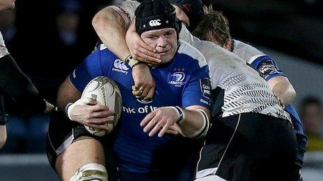 Fit-again prop Mike Ross was back in action for Leinster against Zebre