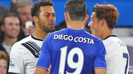 Dembele fronts up to Diego Costa