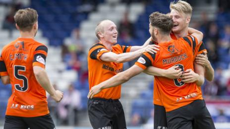 Stewart Murdoch levelled for Dundee United in the Highlands