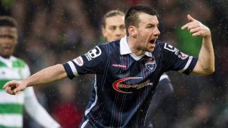 Paul Quinn scored Ross County's second goal