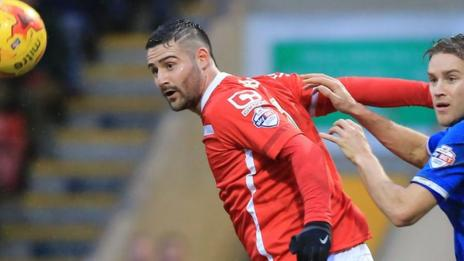 Marcus Haber's opener against Walsall was his first league goal of the season at Gresty Road