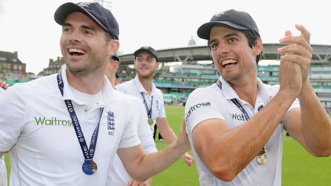 Jimmy Anderson and Alastair Cook
