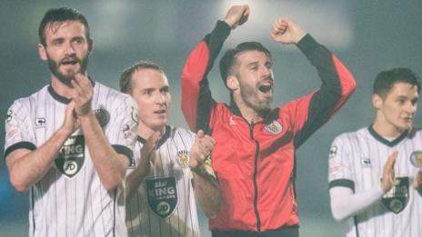 St Mirren players celebrate