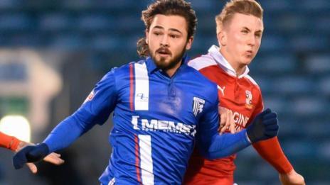 Gillingham midfielder Bradley Dack
