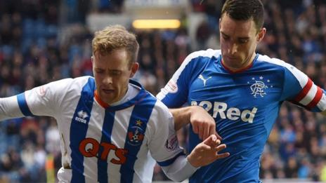Kilmarnock's Rory McKenzie and Rangers' Lee Wallace