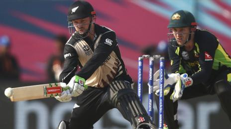 New Zealand's Colin Munro and Australia's Peter Nevill