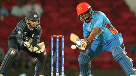 Scotland's Matthew Cross and Afghanistan's Mohammad Shahzad