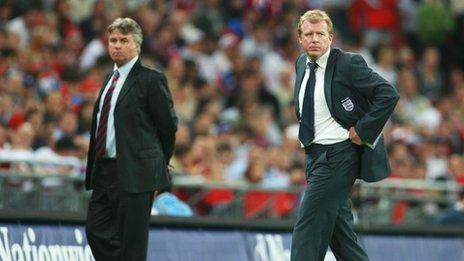 Guus Hiddink (left) and Steve McClaren