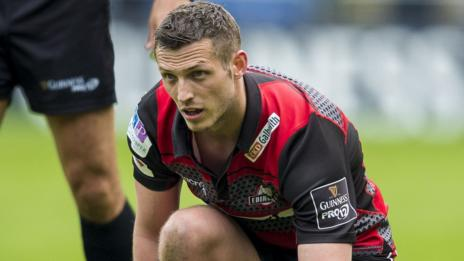 Jason Tovey lines up a penalty for Edinburgh